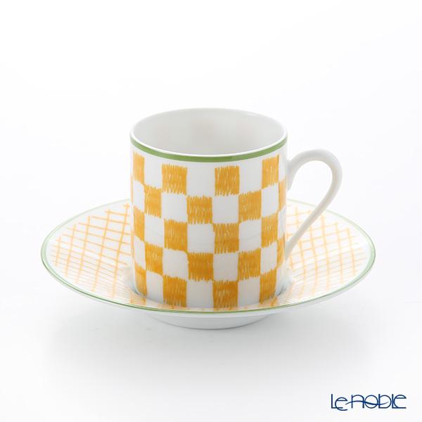 エルメス(HERMES) ウォーク・イン・ザ・ガーデン コーヒーカップ&ソーサー イエロー