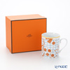 Hermes 'A Walk in the Garden' Orange Mug