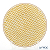 Hermes 'A Walk in the Garden' Yellow 043201P Dinner Plate 27cm