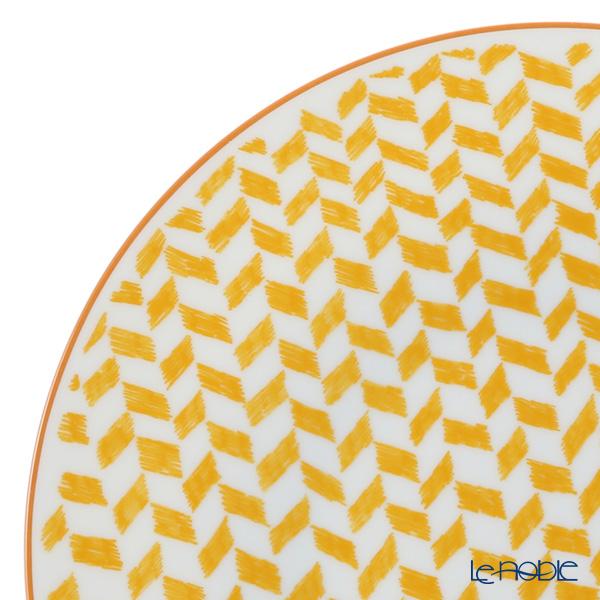 Hermes 'A Walk in the Garden' Yellow Dinner Plate 27cm