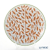 Hermes 'A Walk in the Garden' Orange Dessert Plate 21cm