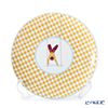 Hermes 'Circus NEW' Yellow [No.2] 045307P Dessert Plate (Checkered) 21.5cm