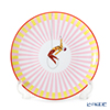Hermes Circus NEW Pink [No.3] 045407P Dessert Plate (Stripe) 21.5cm