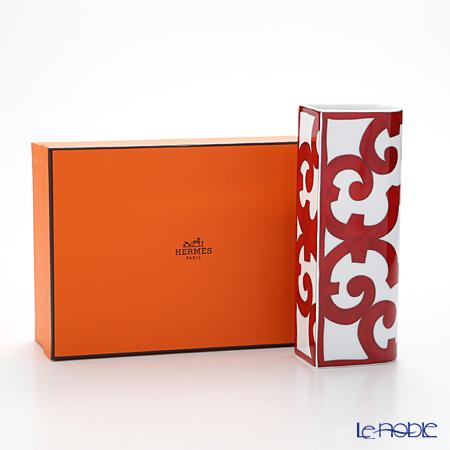 Hermes 'Balcon du Guadalquivir' Red Bud Vase 20cm