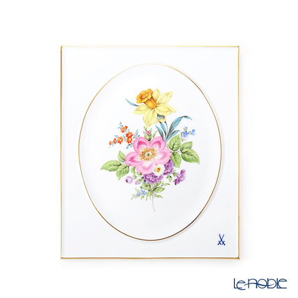 マイセン(Meissen) ベーシックフラワー(五つ花) 100110/53n31/13 陶板 25×20.5cm Motiv No.13 野バラ