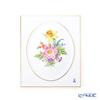 Meissen 'Basic Flower - Wild Rose (5 Flowers)' [Motiv No.13] 100110/53N31/13 Wall Plate / Plaque 20.5x25cm