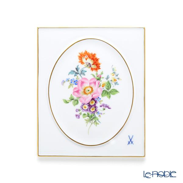 マイセン(Meissen) ベーシックフラワー(五つ花) 100110/53n32/13 陶板 18×15cm 野バラ