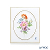 Meissen 'Basic Flower - Wild Rose (5 Flowers)' 100110/53N32/13 Wall Plate / Plaque 14.5x17.5cm