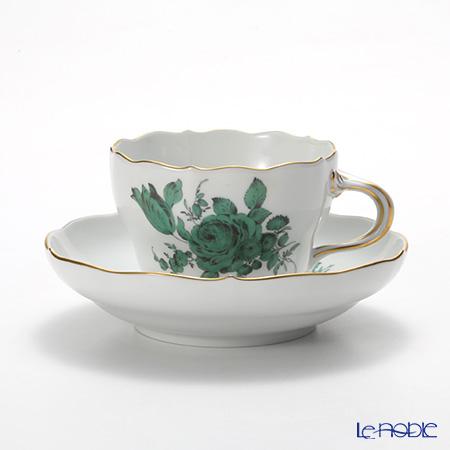 マイセン(Meissen) フラワーブーケ(グリーン) 100810/00582 コーヒーカップ&ソーサー