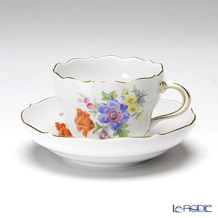 マイセン(Meissen) ベーシックフラワー(五つ花) 110110/00582/01 コーヒーカップ&ソーサー 200cc Motiv No.1 アネモネ