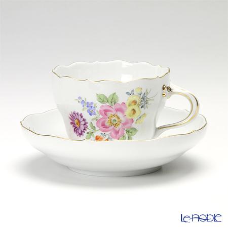 マイセン(Meissen) ベーシックフラワー(五つ花) 110110/00582/13 コーヒーカップ&ソーサー 200cc Motiv No.13 野バラ