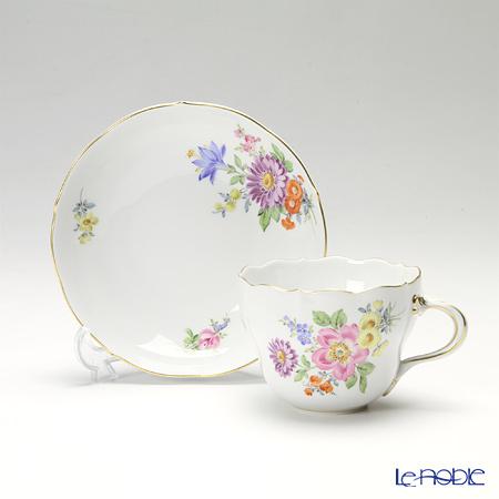 マイセン(Meissen) ベーシックフラワー(五つ花) 110110/00582/13コーヒーカップ&ソーサー 200cc Motiv No.13 野バラ