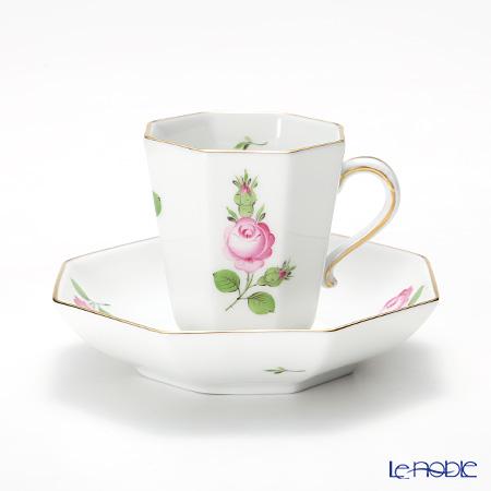ヘレンド プティットローズ PR 04307-0-00モカカップ&ソーサー(オクタゴナル)