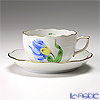 Herend 'Tulip Flower Blue / Kitty' KY-3 00724-0-00/724 Tea Cup & Saucer 200ml