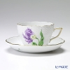 Herend Kitty KY-4 (purple) d00730 - 0-00 Tea Cup & Saucer (combined) 200 cc