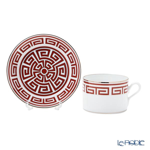 Ginori 1735 / Richard Ginori 'Labirinto - Scarlatto / Impero' Red Tea Cup & Saucer 220ml