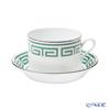 Ginori 1735 / Richard Ginori 'Labirinto - Smeraldo / Impero' Emerald Green Tea Cup & Saucer 220ml