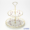 Royal Crown Derby Royal Antoinette 2-Tier Cake Stand