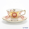 Royal Crown Derby Derby Panel Red Teacup and Saucer