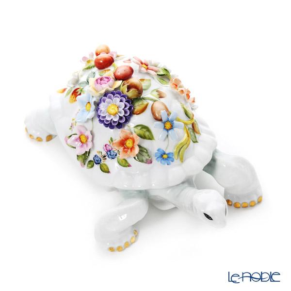 ヘレンド CD陸亀 フラワー 22cm 15972-0-66 LE2015 世界限定生産2015点