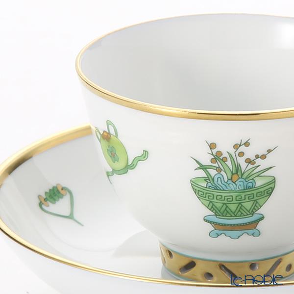 Herend Topkapi TOP 03371-0-21 Mocha Cup & Saucer (Mandarin handle / openwork) 100ml