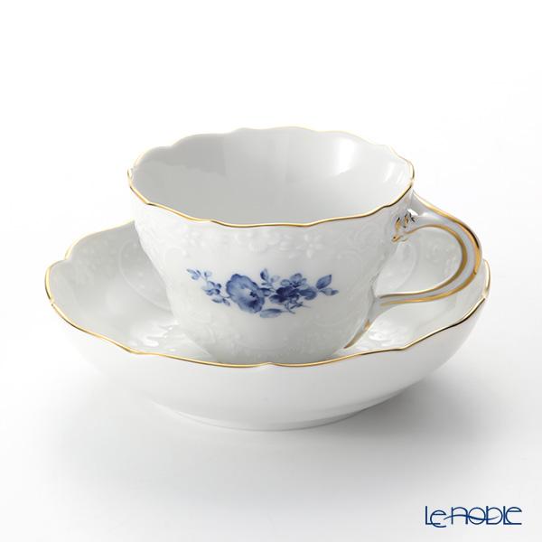 マイセン(Meissen) ベーシックフラワー(二つ花) ノイマルセイユ 140210/03582A コーヒーカップ&ソーサー(200cc) コバルトブルー