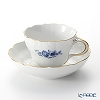 Meissen (Meissen) basic flower (2 flowers) 03582 A / Neu Marseille 140210 Cobalt blue coffee cups and saucers (200 cc)
