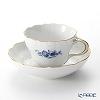 Meissen 'Basic Flower (2 Flowers)' Cobalt Blue (Neu Marseille shape) 140210/03582A Coffee Cup & Saucer 200ml