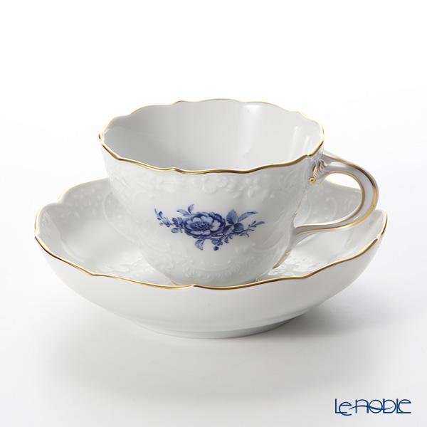 マイセン(Meissen) ベーシックフラワー(二つ花) ノイマルセイユ 140210/03582B コーヒーカップ&ソーサー(200cc) コバルトブルー
