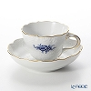 Meissen (Meissen) basic flower (2 flowers) Neu Marseille 140210 / 02582 B Cobalt blue coffee cups and saucers (200 cc)