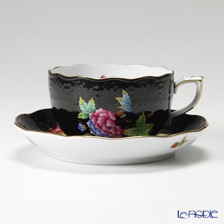 ヘレンド 黒いヴィクトリア VE-FN 00724-0-00 ティーカップ&ソーサー 200cc