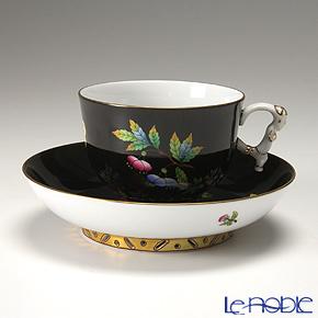 ヘレンド 黒いヴィクトリア VE-FN 03364-0-21 ラージカップ&ソーサー