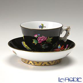 ヘレンド シノワズリ(中国趣味) 黒いヴィクトリア VE-FN 03371-0-21マンダリン スモールカップ&ソーサー