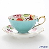 Aynsley Eden Turquoise Tea Cup & Saucer (Athens)