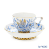Herend ''Zoo Garden Blue / Jardin Zoologique' ZOBA 03364-0-21 Tea Cup & Saucer (Mandarin handle / openwork) 200ml