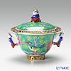 Herend 'Macau Green / Macao' MACV 03355-0-21 Covered Sugar Pot (Mandarin handle & knob / openwork) 100ml