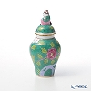 Herend 'Macau Green / Macao' MACV 06574-0-21 Covered Mini Vase (Mandarin) H10cm