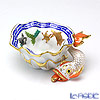 Herend 'Fishes / Poisson' Blue PO 07729-0-00 Ashtray / Bowl (Shell shape with Fish) 10.5cm