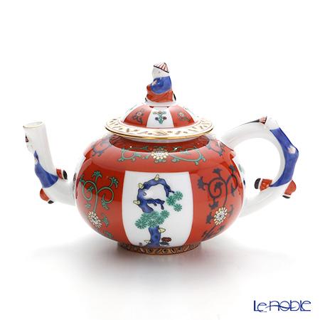 ヘレンド シノワズリ(中国趣味) ゲデレ G 03305-0-21 ミニティーポット(マンダリン) 0.35L