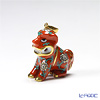 Herend 'Xian Red / Gödöllő' G 15503-0-47 Foo Dog / Guardian Lion Pendant Top H2.5cm