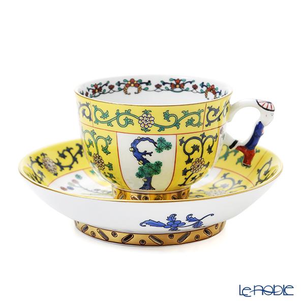 ヘレンド シノワズリ(中国趣味) 西安の黄 SJ 03364-0-21/3364 マンダリン ラージカップ&ソーサー
