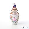 Herend 'Shanghai (Peony)' SH 06574-0-21 Mini Vase with lid (Mandarin) H9.8cm