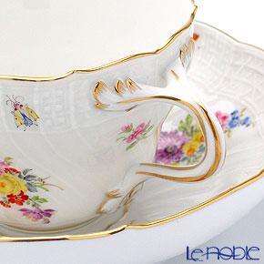 マイセン(Meissen) レリーフのあるブーケ 220110/02582コーヒーカップ&ソーサー 200cc