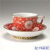 ヘレンド シノワズリ(中国趣味)赤地菊 CHRY 03364-0-21マンダリン ラージカップ&ソーサー