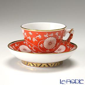 ヘレンド 赤地菊 CHRY 03371-0-21 スモールカップ&ソーサー