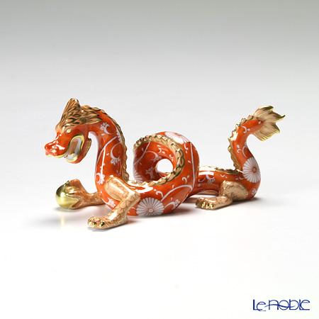 ヘレンド 赤地菊 CHRY 15070-0-00ドラゴン 赤龍 13cm