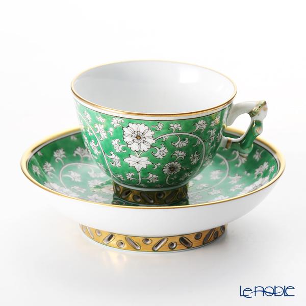 ヘレンド 芙蓉緑彩 RDCV 03371-0-21 スモールカップ&ソーサー
