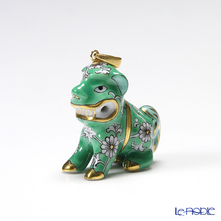 Le Noble Herend Rose De Chine Verte Fo Dog With Hole Rdcv 15503 0 47