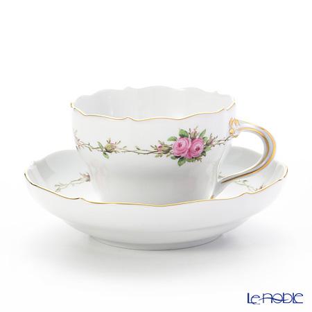 マイセン(Meissen) フラワーガーランド(ローズ) 22910/00582 コーヒーカップ&ソーサー 200cc