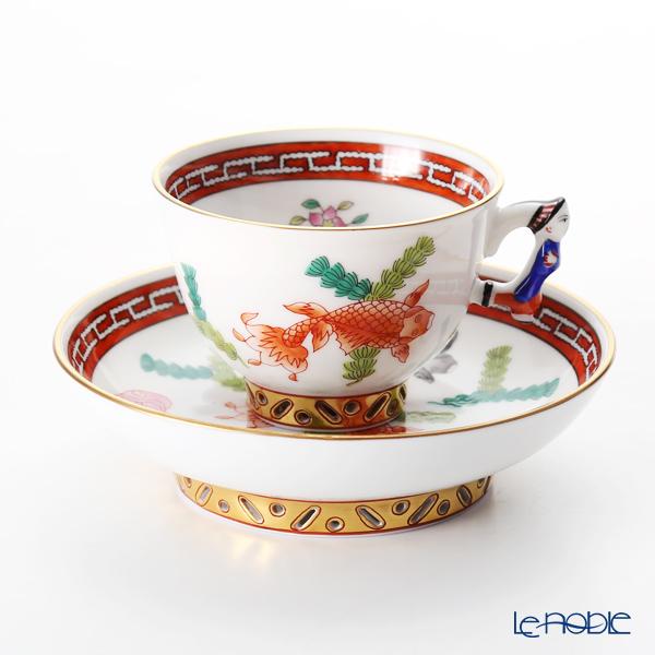 ヘレンド シノワズリ(中国趣味) ポワッソン(赤) 03371-0-21スモールカップ&ソーサー